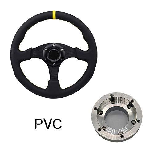 Fltzm PU Auto Racing Wheels Wheels Deep Drifting Sport Vining Wheel For Logitech G29 G920 13/14 Pulgadas Adaptador de Volante Durable y rentable (Color : Set E)
