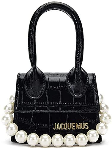 LEOCEE Jacquemus Mini monederos y bolsos para mujer Bolso bandolera Bolsos de diseñador de lujo Patrón de cocodrilo