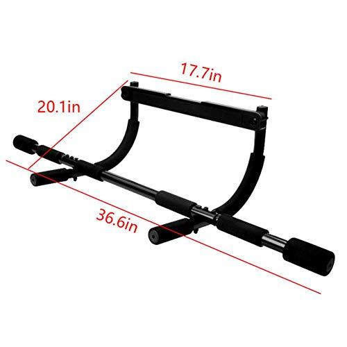 TTZY Tragbare Klimmzugstange für Oberkörpertraining Tür Trainingsstange E Push-Up-Rack Bodybuilding Heimgymnastik-Fitnessgeräte, schwarz