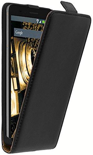 tomaxx Flip Schutzhülle Kompatibel mit Sony Xperia L2 auch Dual SIM Hülle Tasche mit Magnetverschluss