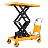 SOVAN'S Handling Tools Hydraulic Manual Double Scissor Lift Table Cart - Sturdy and Durable Everyday Use Lift Table 1760lbs Capacity