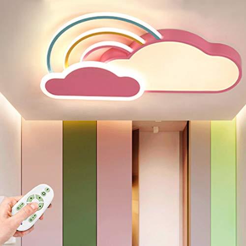 LED Deckenleuchte Cartoon Kreative Kinderzimmer Lampe Dimmbar Mit Fernbedienung Deckenlampe Mädchen Und Jungen Schlafzimmer Wohnzimmer Deckenlich Acryl Lampshade Innen Deckenbeleuchtung,Pink/dimmable