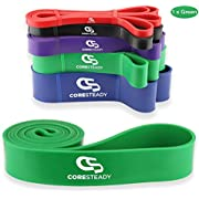 Coresteady Resistance Band - Assisted Pull Up Band - Exercise Workout Band for CrossFit – Powerlifting – Yoga – Stretch Mobility for Men and Women (GREEN/STRONG)