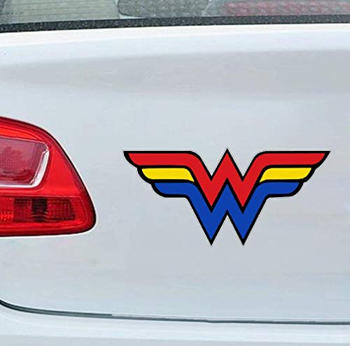 13 cm x 6,3 cm Autoaufkleber für Wonder Woman Amazon Warrior Charakter Aufkleber Wand Auto Stoßstange SUV Aufkleber
