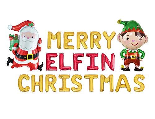 Frohe Weihnachten Ballon Dekoration mit MERRY ELFIN WEIHNACHTEN Luftballons für Weihnachten Party Dekoration Hässliche Weihnachten Pullover Home Party Decor