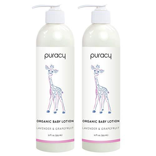 Puracy Organic Baby Lotion, Calming Natural Lavender &...