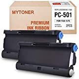 MYTONER PC501 Compatible Brother PC-501 PC 501 PPF Print Fax Cartridge for Brother Fax 575 FAX-575 Printers -2 Pack