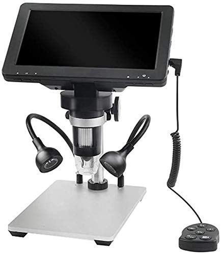 ETE ETMATE Newest 7 Inch 1080P Screen Digital Microscope, 12MP Industrial Magnifier with 1000X Magnification Zoom & Wire Control, Suitable for Phone Repair Jewelry Appraisal Biologic Use