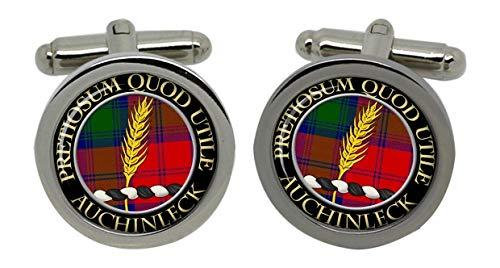 Auchinleck Clan écossais pour homme Écusson Chrome Boutons de manchette avec coffret cadeau