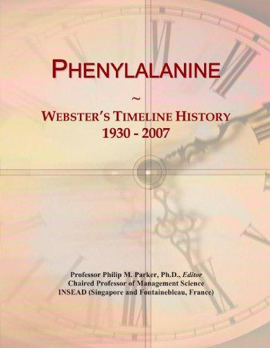 Phenylalanine: Webster's Timeline History, 1930 - 2007