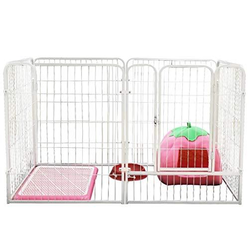 NYKK Jaula de Perro Plegable Animal doméstico del Metal Ejercicio y Parque Infantil Parque Infantil Productos for Mascotas Blanco del Animal doméstico 120 * 60 * 70cm Perrera