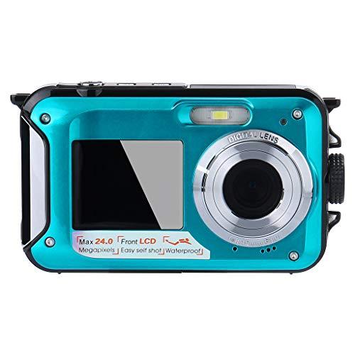 GorNorriss Waterproof Digital Camera - Underwater Camera 24 MP Video Recorder Full HD 1080P DV Recording Point and Shoot Digital Camera
