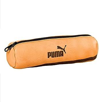 PUMA Origin - Trousse Ronde Scolaire en Cuir - 22 x 7 - Marron ...