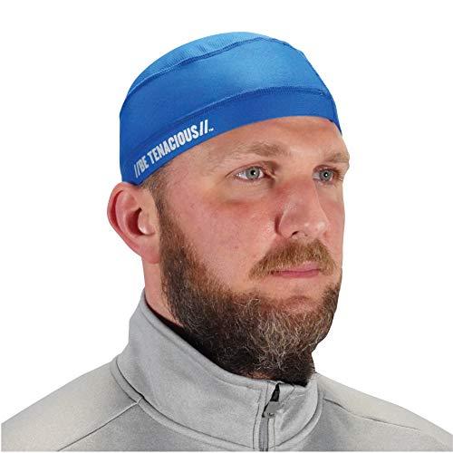Ergodyne - 12686 Chill Its 6632 - Gorro de cráneo de refrigeración para el sudor, protección solar UPF 50, color negro