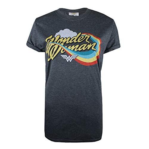 Preisvergleich Produktbild DC Comics Damen Ww Rainbow T-Shirt,  Grau (Dark Heather Dkh),  36 (Herstellergröße: SMALL)