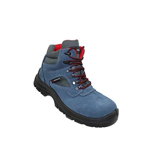 Zapatos Modyf Fórmula Alta S1P SRC Seguridad Zapatos Zapatos Zapatos Profesionales del Negocio de Trekking Zapatos de Trabajo Azul, Tamaño:39 EU
