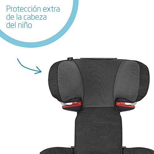 Bébé Confort RodiFix AirProtect silla de auto para niño con y sin ISOFIX, reclinable, segura y ligera, desde los 3,5 hasta los 12 años, 15-36 kg,negro (nomad black)