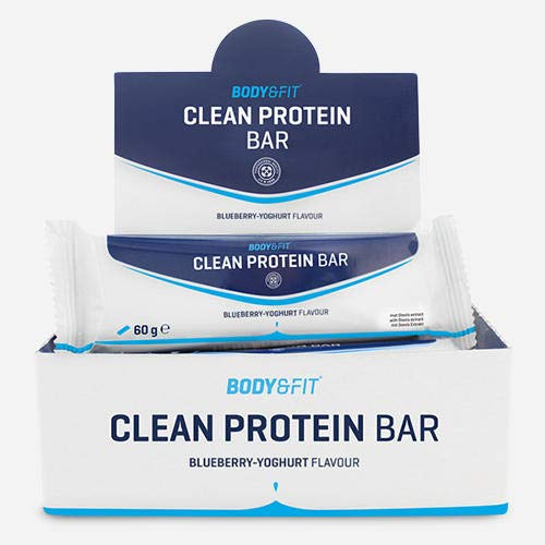 Body & Fit Clean Protein Bar Blueberry Yoghurt 720 gramm (12 riegel)