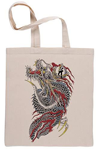 Yakuza Beige Riutilizzabile Borse Per La Spesa Reusable Beige Shopping Bag