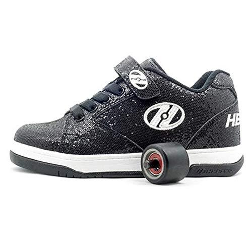 Heelys Split | Zapatos con Ruedas para niños y niñas | Black Glitter, (36.5 EU)