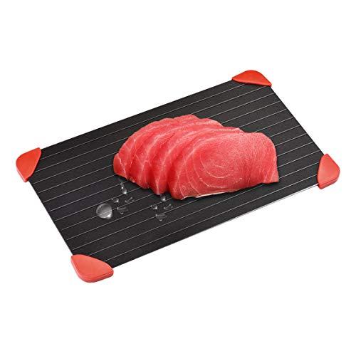 iitrust Auftauplatte, Schnell Abtauung Tablett mit Silikon Gummi Ecke zum Auftauen Fleisch oder oder Tiefkühlkost, ohne Strom Chemie Mikrowelle
