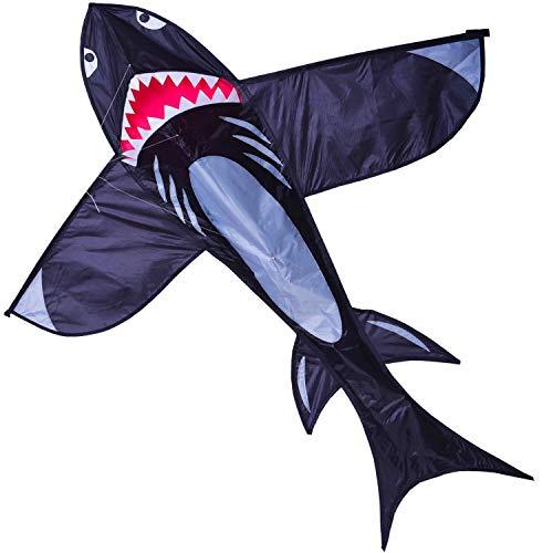 ZHONGRAN Huge Shark Kite for Children and Adults-5ft,Nylon 3D Kites Single Line Easy Flyer for the Beach Park Garden