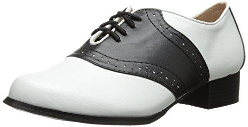 Ellie Shoes Unisex 105-saddle, Black/White, 8 US Women