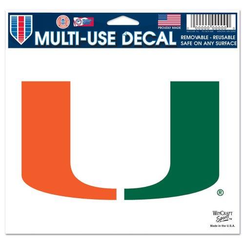 WinCraft NCAA University of Miami (Florida) Multi-Use Colored Decal, 5