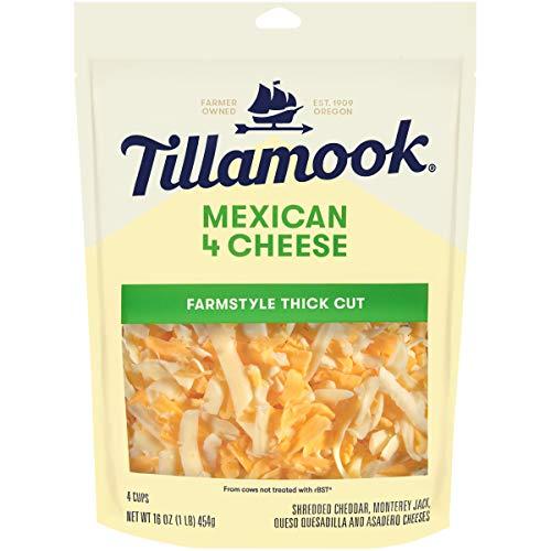Tillamook, Mexican 4 Cheese Blend Shredded Cheese, 16 oz