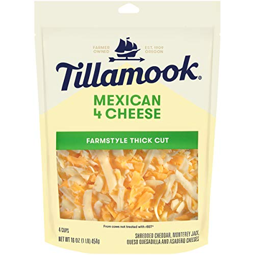 Tillamook, Mexican 4 Cheese Blend Shredded Cheese, 16 oz