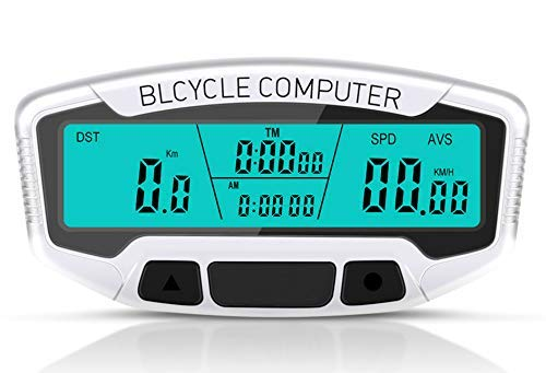 HJTLK Fahrradcomputer, Sunding Fahrradcomputer Kabelgebundene Stoppuhr Fahrrad-Tachometer Digitaler Kilometerzähler Regensichere LCD-Hintergrundbeleuchtung