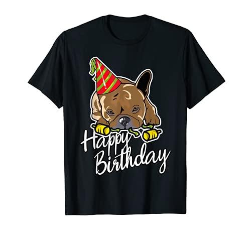 Happy Birthday french bulldog party Frenchie Bday T-Shirt