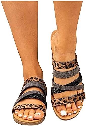 TopLAD Sandals for Women, Womens Flat Sandals Boho Zipper Open Toe Flip Flops Roman Shoes Summer Casual Beach Sandals