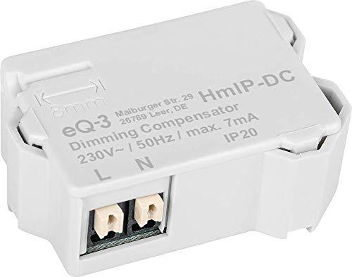 Homematic IP Smart Home Dimmerkompensator, beseitigt Störungen und sorgt für eine ruhige Lichtstimmung, 155402A0, Grau