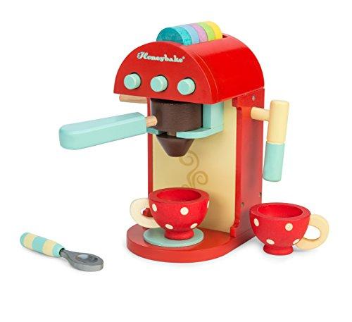 Le Toy Van – Honeybake Küchen-Rollenspiel Kaffeemaschine aus Holz | Rollenspiel für Kinder Küchenzubehör, TV299