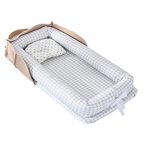 Best Buy! Abreeze Baby Bassinet for Bed Bedside Cribs -Gird Baby Lounger - Co-Sleeping Cribs & Cradl...