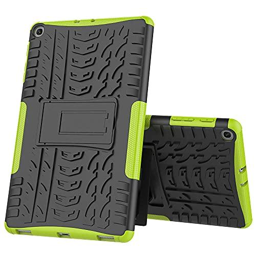 Samsung Tab S2 9.7 T820 T815 T817 silicona anti-caída cubierta protectora de tres en uno placa plana-verde_Samsung Tab S2 9.7 T820 T815 T817