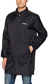 OBEY Men's O.b.e.y. Mock Neck Trench Jacket