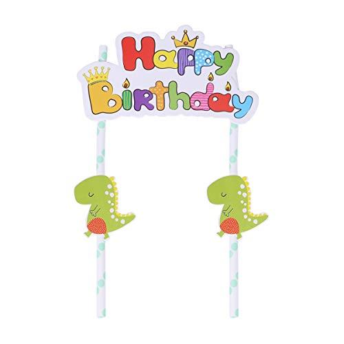 BESTonZON Torta di Dinosauro Topper Cupcake Toppers Picks per Bambini Compleanno Baby Shower Decorazioni per Feste Forniture