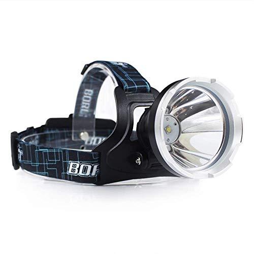 BORUIT B10 XM-L2 LED lampe frontale phare LED torche avec 3 modes, 5000 Lumen imperméable rechargeable lampe de poche lampe frontale pour pour la chasse, le camping, la pêche
