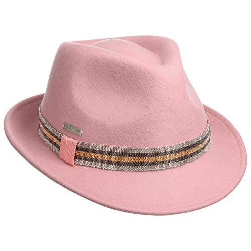 Seeberger Jalena Trilby Wollhut Wollfilzhut Filzhut Damenhut Damentrilby (One Size - rosa)