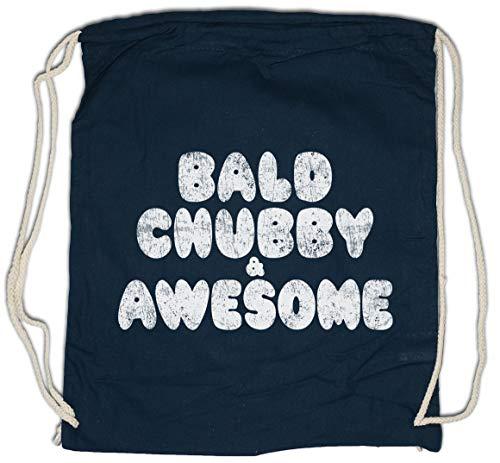 Urban Backwoods Bald Chubby & Awesome Bolsa de Cuerdas con Cordón Gimnasio