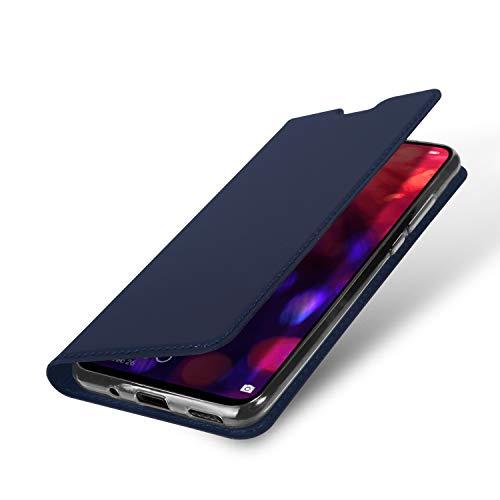DUX DUCIS Hülle für Honor View 20, Leder Flip Handyhülle Schutzhülle Tasche Case mit [Kartenfach] [Standfunktion] [Magnetverschluss] für Huawei Honor View 20 (Blau) - 5