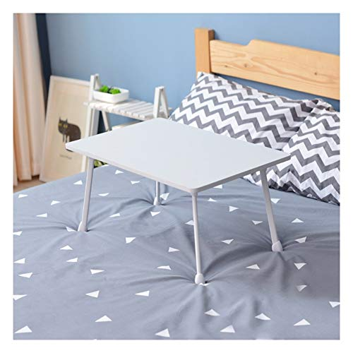 Mobile Folding Table, Bay Window Small Desk, with Handle, Flexible and Lightweight, for Home and Office Overbed Table with Castor (Color : White, Size : Style A)