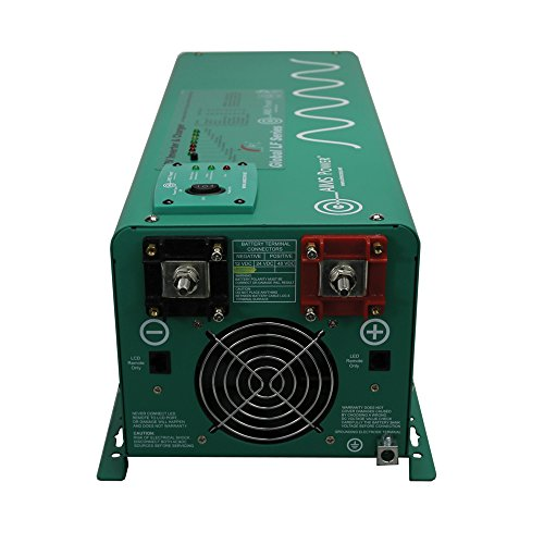 AIMS Power PICOGLF25W12V120AL Green AIMS 2500 Watt 12VDC to 120VAC Power Inverter Charger with Transfer Switch
