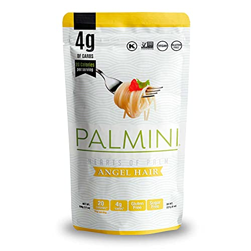 Palmini Low Carb Angel Hair   4g of Carbs   As Seen On Shark Tank   Hearts of Palm Pasta (12 Ounce - Pack of 1)