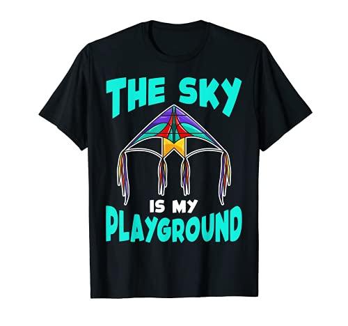 El cielo es mi patio de recreo volando cometa Camiseta
