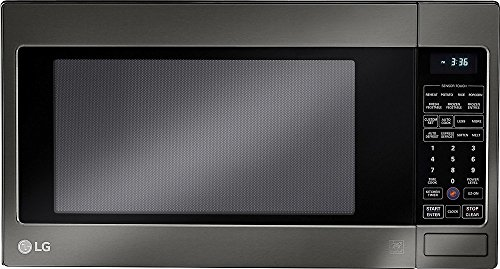 LG 24-Inch 1200-Watt 2 Cubic Feet Capacity Countertop Microwave, Black Stainless Steel (Certified...