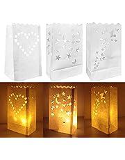 30 Piezas Bolsas Decorativas para Velas Crea un Ambiente Cálido y Romántico por la Noche Aportando un Disfrute Visual Diferente