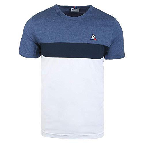 Le Coq Sportif Tri Saison SS N°2 Camiseta, Hombre, N.O.W/D.B/Bleu Clair St, M